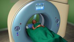 Exploración de resonancia magnética de la proyección de imagen (exploración de MRI) Fotos de archivo