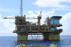 Exploración del aceite y de gas Fotos de archivo libres de regalías