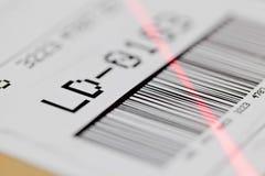 Exploración del código de barras Imágenes de archivo libres de regalías