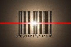 Exploración del código de barras foto de archivo libre de regalías