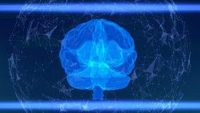 Exploración del cerebro humano usando tecnologías innovadoras en medicina almacen de metraje de vídeo