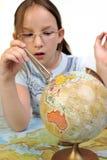 Exploración del globo imagen de archivo