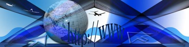 Exploración del Internet ilustración del vector