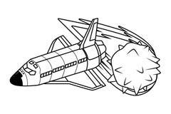 Exploración espacial e historieta de los planetas libre illustration