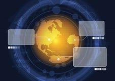 Exploración global del radar ilustración del vector