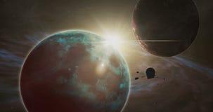 Exploración por satélite del cosmos ilustración del vector