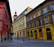 Exploración urbana en Sibiu Imagen de archivo