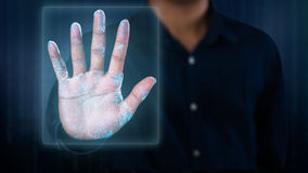 Exploración de la huella dactilar Imagenes de archivo