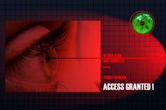 Exploración de la retina Imagenes de archivo