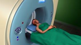 Exploración de resonancia magnética de la proyección de imagen (exploración de MRI) Imagenes de archivo