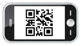 Exploración del código de QR. Imágenes de archivo libres de regalías