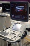 Exploración del ultrasonido del equipamiento médico Foto de archivo libre de regalías
