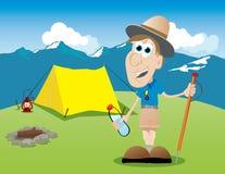 Explorador stock de ilustración