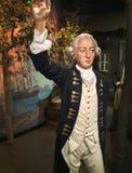 Explorador Captain James Cook Waxwork imágenes de archivo libres de regalías