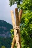 Explorador Construction con postes y las cuerdas Fotografía de archivo