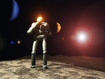 Explorador de espaço do robô Foto de Stock Royalty Free
