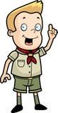 Explorador de muchacho stock de ilustración