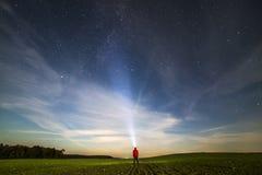 Explorador de Nightspace Fotografia de Stock