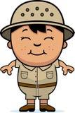 Explorador del muchacho ilustración del vector