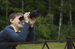 Explorador do menino Fotografia de Stock