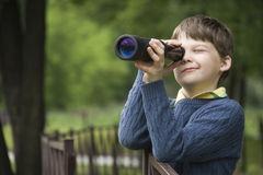 Explorador do menino Fotos de Stock