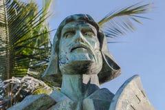 Explorador do pioneiro da corrosão da escultura da estátua imagem de stock