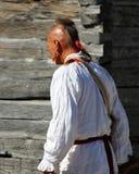 Explorador indio de Mowhawk - reconstrucción Fotografía de archivo libre de regalías