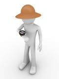 Explorador que olha o compasso Imagem de Stock