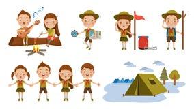 exploradores ilustración del vector