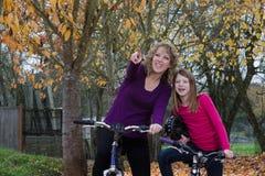 Exploradores da bicicleta Fotografia de Stock