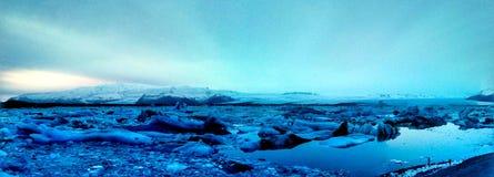 Exploradores do iceberg fotografia de stock