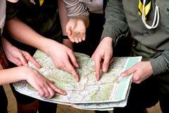 Exploradores en estudio Imagenes de archivo