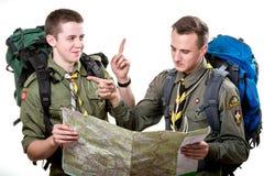 Exploradores en estudio Foto de archivo