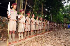 Exploradores tailandeses Imagenes de archivo