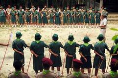 Exploradores tailandeses Fotos de archivo libres de regalías