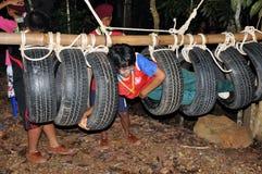 Exploradores tailandeses Fotografía de archivo