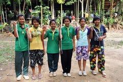 Exploradores tailandeses Foto de archivo
