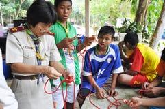 Exploradores tailandeses Imagen de archivo