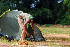 Exploradores tailandeses Imagen de archivo libre de regalías