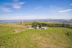 Exploração agrícola de vento em Austrália Fotografia de Stock