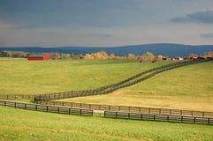 Exploração agrícola do cavalo em Virgínia Fotos de Stock Royalty Free