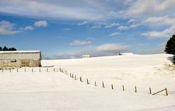 Exploração agrícola do inverno Foto de Stock Royalty Free