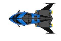Explorateur d'univers de vaisseau spatial illustration stock