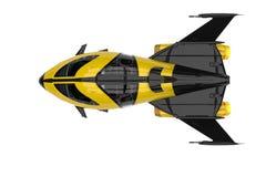 Explorateur d'univers de vaisseau spatial illustration de vecteur