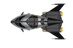Explorateur d'univers de vaisseau spatial illustration libre de droits