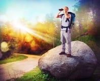 Explorateur en bois photos stock