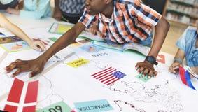 Explorateur mondial Continent Country Concept de géographie photos stock