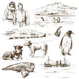 Explorateur polaire illustration stock