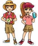 Explorateurs d'enfants d'aventure illustration de vecteur