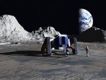 Explorateurs lunaires Images libres de droits